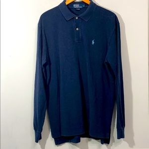 Polo by Ralph Lauren Blue Long Sleeve Polo Size L